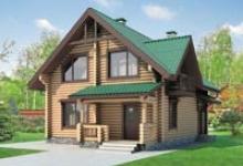 Деревянный дом I-137-1D
