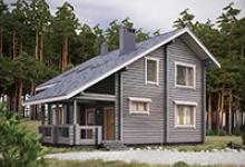 Деревянный дом I-146-1D
