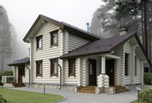 Деревянный дом J-136-1D