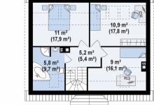 Дом из блоков Z14