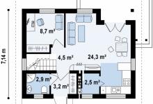 Каркасный дом Z212