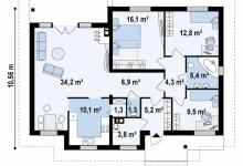 Дом из блоков Z23