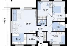 Дом из блоков Z273