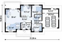 Дом из блоков Z35