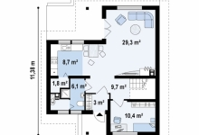 Дом из блоков Z37