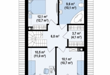 Дом из блоков Z38